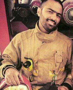 Pompiere Basiji Behnam Mirza Khani, 35 anni morto a teheran
