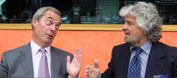 Grillo Farage Affronte