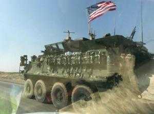 veicolo striker del 3°battaglione ranger usa in Siria