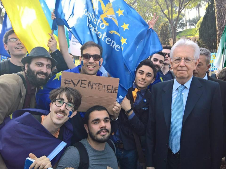 liberali manifestazione pro-Ue Roma 25 marzo