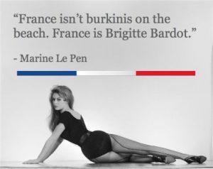 Brigitte Bardot contro il bura