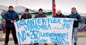 protesta dipendenti K-Flex