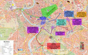 Mappa Roma blindata
