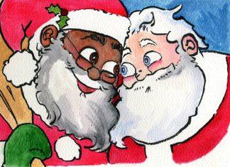 Babbo Natale nero e gay marito