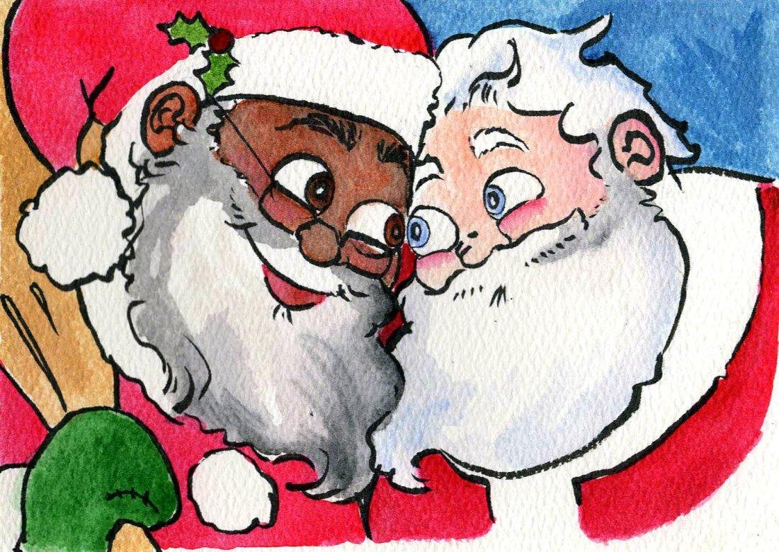 Babbo Natale Babbo Natale.Nero E Gay Dagli Usa Arriva Il Nuovo Babbo Natale