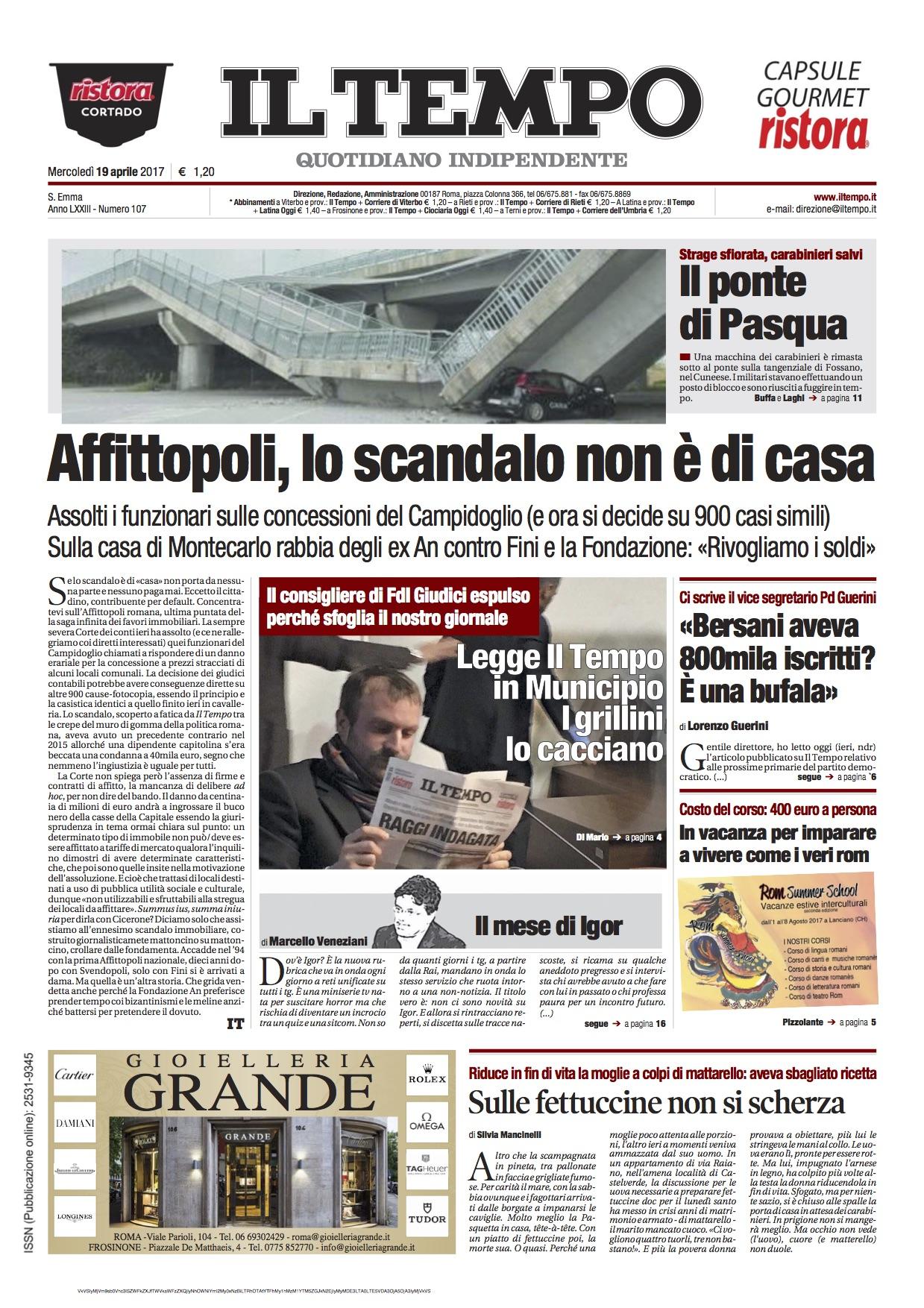 Cosa dicono i giornali di oggi le prime pagine in edicola for Giornali arredamento casa