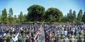 70 identificati saluti romani campo X Iannone