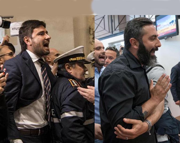 CasaPound 5 Stelle Davide Di Stefano Raggi contestazione