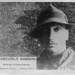 Giancarlo Nannini fascisti marcia su Roma