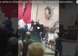 urla allah akbar durante un matrimonio in chiesa