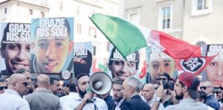 CasaPound Ius Soli manifestazione Davide Di Stefano