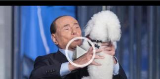 Berlusconi Vespa Dudù prova a scappare