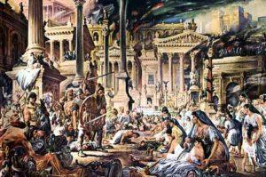 caduta roma invasioni barbariche