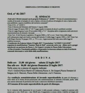 ordinanza superalcolici 2