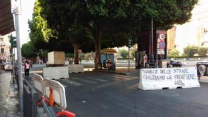 Barriere antiterrorismo Palermo CasaPound