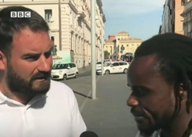 bbc immigrazione intervista casapound