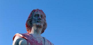 colombo statua vandalismo
