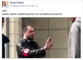 Enrico Rossi pestaggio neonazista