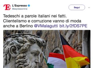 Espresso autorazzismo italiani tedeschi corruzione