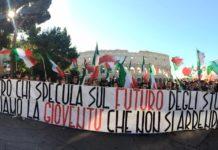 Blocco Studentesco manifestazione ministro Fedeli