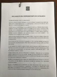 catalogna dichiarazione indipendenza