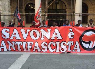 Savona antifascista antifascismo corteo immigrati