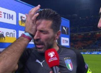 Buffon lacrime addio