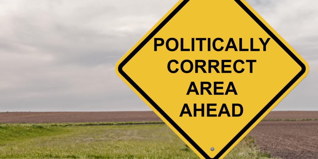 politicamente corretto cartello