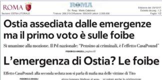 Foibe CasaPound Pd Repubblica Federica Angeli