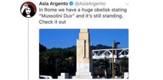 asia argento obelisco dux
