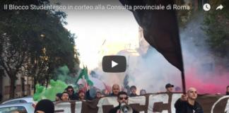 Blocco Studentesco CasaPound elezioni consulta di Roma