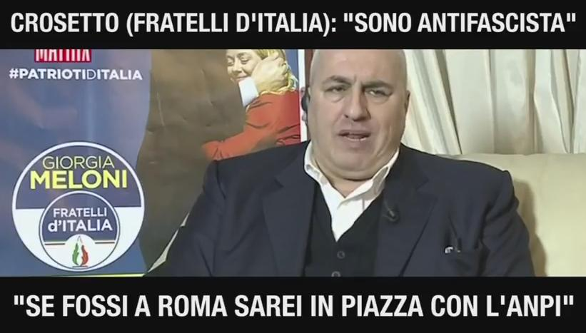 guido crosetto antifascismo