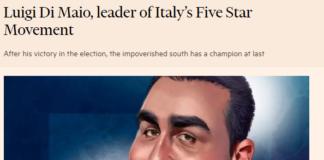 Di Maio Financial Times Soros M5S