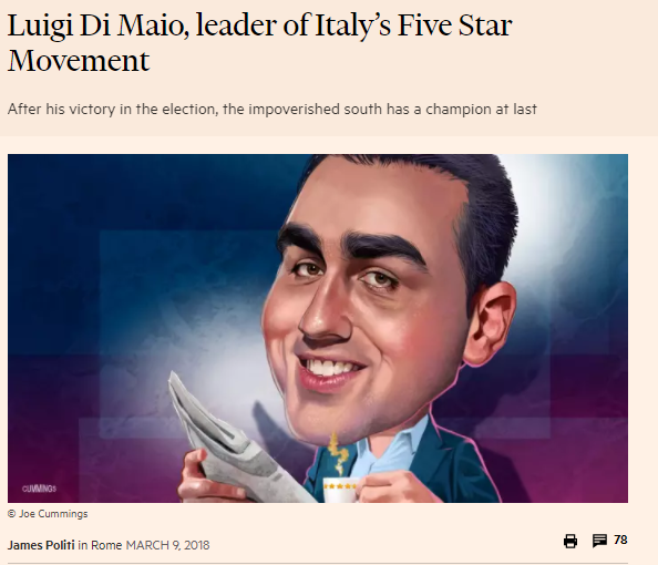 Di Maio Financial Times Soros M5S