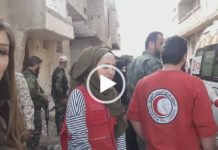 ghouta civili in fuga