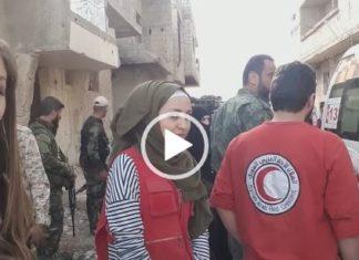 ghouta civili in fuga