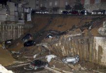 roma crollo strade