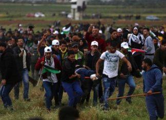 La protesta palestinese a Gaza