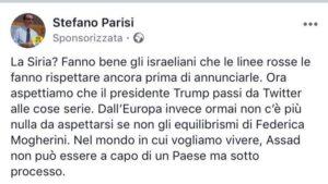 Stefano Parisi post choc su Siria