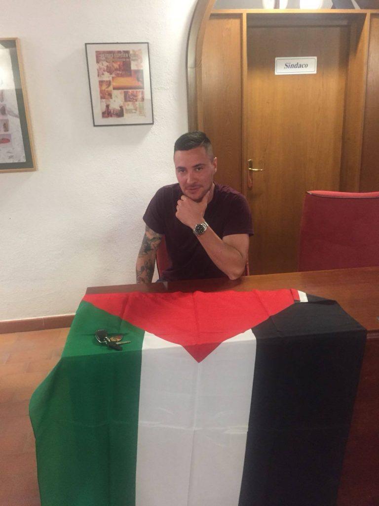 Miscia Sant'Oreste bandiera palestinese