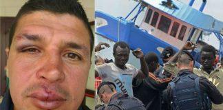 Pozzallo tunisini agenti feriti