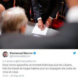 macron accordo libia