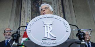 Foto di Sergio Mattarella, Presidente della Repubblica intervenuto sulla crisi con la Francia