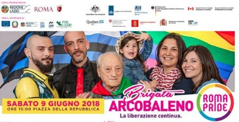 gay pride roma partigiani