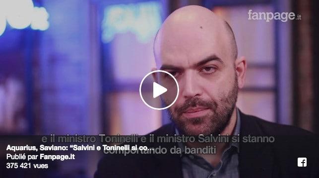 Saviano Toninelli Salvini Aquarius