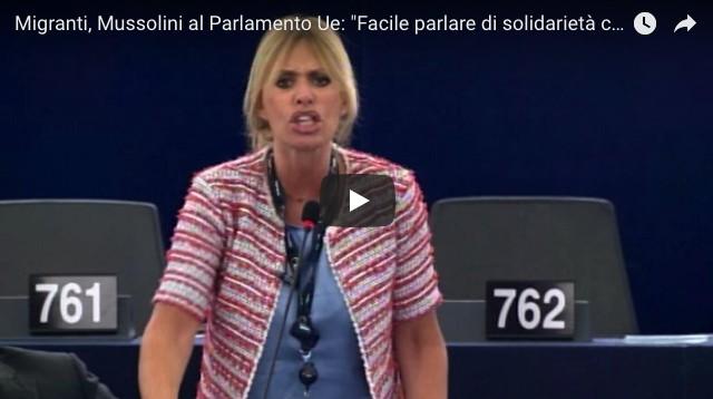 Alessandra Mussolini parlamento ue italia immigrazione