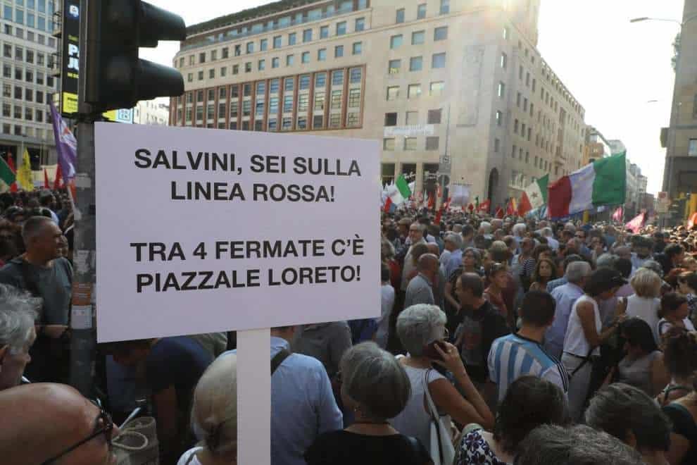Milano Salvini piazzale Loreto