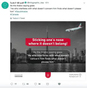 crisi diplomatica Arabia Saudita Canada
