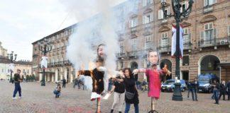 studenti di maio salvini bruciati