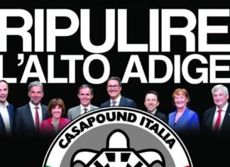 Alto Adige manifesto CasaPound